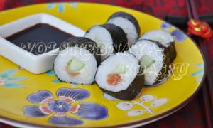 Суши пошаговый рецепт в домашних условиях