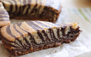Торт зебра классический рецепт с фото пошагово