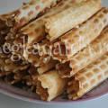 Вафельные трубочки для вафельницы рецепт