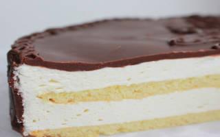 Рецепт торта птичье молоко по госту с желатином