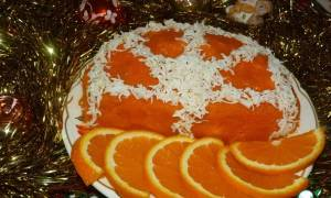 Салат апельсиновая долька рецепт с пошаговым фото