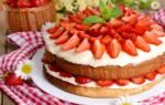 Клубничный торт с сметанным кремом рецепт с фото