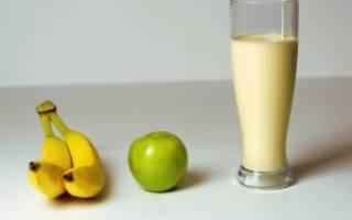 Рецепт смузи в блендере с бананом и яблоком
