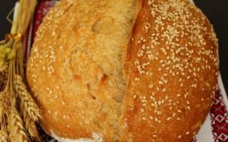Рецепт деревенского хлеба в духовке в домашних условиях с фото