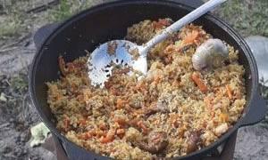 Плов узбекский в казане на костре рецепт