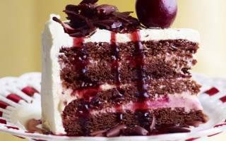 Торт черный лес с вишней пошаговый рецепт с фото