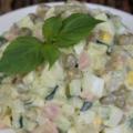 Рецепт оливье классический со свежим огурцом