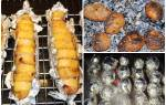 Картошка на мангале рецепт с фото с салом