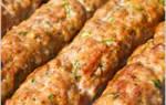 Рецепт люля-кебаб в домашних условиях из свинины на мангале