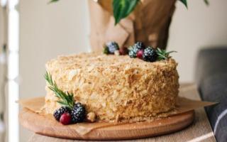 Рецепт торт на сковороде со сгущенкой