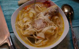 Суп куриный с домашней лапшой пошаговый рецепт