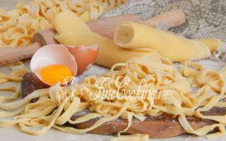 Приготовление домашней лапши пошаговый рецепт