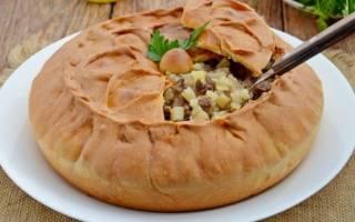 Рецепт пирога в духовке с мясом и картошкой