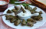 Долма рецепт из свежих виноградных листьев рецепт