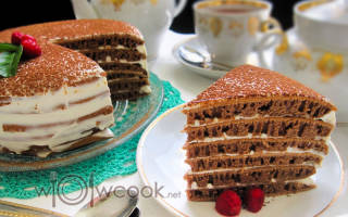 Рецепт шоколадный торт на сковороде с фото