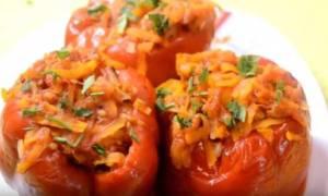 Видео рецепт перец фаршированный мясом и рисом