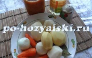 Суп из фасоли в томатном соусе рецепт