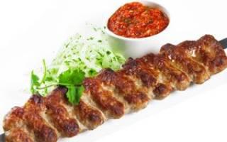 Люля кебаб рецепт из говядины на мангале