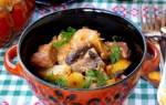 Мясо в духовке с грибами рецепт с фото