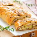 Пирог из слоеного теста с ветчиной и сыром рецепт с фото