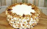 Рецепт торт с грецким орехом и черносливом
