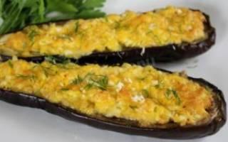 Рецепт баклажаны с чесноком и с сыром