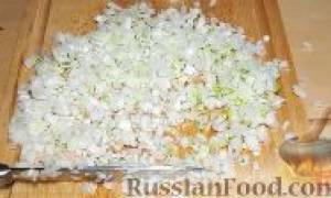 Рецепт гнезда из макарон с фаршем на сковороде
