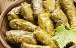 Рецепт засолки виноградных листьев для долмы
