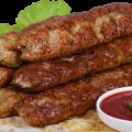 Люля-кебаб из свинины рецепт на шампурах