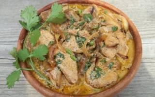Куриное филе в сметанном соусе рецепт