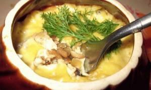 Жульен с грибами в горшочках рецепт с фото