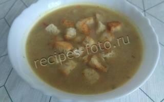 Рецепт с фото суп пюре из картофеля с гренками