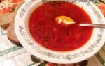 Борщ рецепт со свежей капустой и свеклой