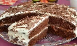 Рецепт торт на кефире со сметанным кремом