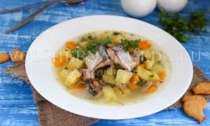 Суп из консервов рыбных рецепт с фото пошагово