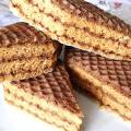 Торт из вафельных коржей с варёной сгущенкой рецепт с фото