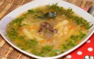 Суп с куриными потрошками классический рецепт
