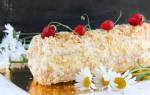 Торт из слоеного теста полено рецепт с фото