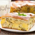 Быстрый пирог с картошкой на кефире рецепт с фото