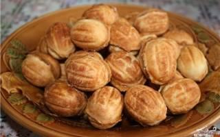 Орешки со сгущёнкой классический рецепт с фото в орешнице