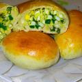 Пирожки с яйцом и зеленым луком в духовке пошаговый рецепт