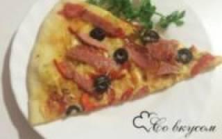Пицца на тонком тесте рецепт как в пиццерии