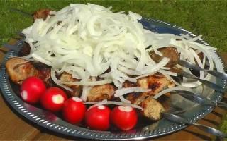 Маринование шашлыка из свинины в уксусе с луком рецепт