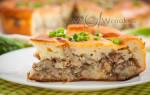 Заливной пирог с рыбными консервами на кефире рецепт с фото в духовке