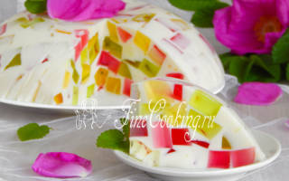 Торт битое стекло рецепт с бисквитом с фото