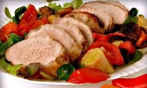 Свинина запеченная в духовке с овощами рецепт с фото
