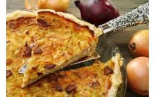 Классический французский луковый пирог рецепт