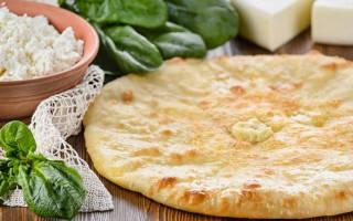 Осетинский пирог с творогом и зеленью рецепт с фото