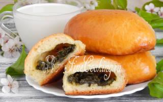 Пирожки из дрожжевого теста со щавелем рецепт