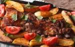 Ребра свиные в духовке с картошкой рецепт с фото